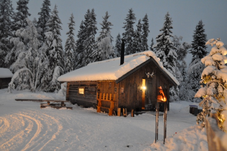 Lindalens Fäbod, cross country skiing, Kalven runt, Waffles, length tracks, snowmobile