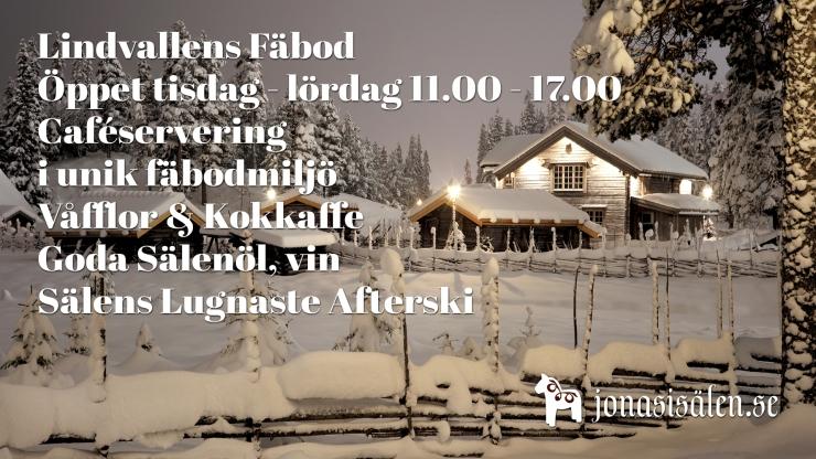 Lindvallens Fäbod, café, café lindvallen, våfflor, våffelstuga sälen, Jonas i Sälen, Lindvallen