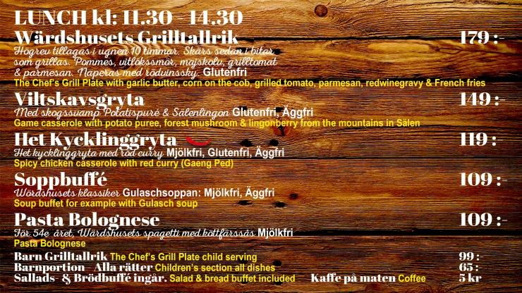 lunch, lunch i backen, Tandådalens Wärdshus, meny, restaurang tandådalen, afterski, afterski tandådalen, Jonas i Sälen, allergi, laktosfri, lunchöppet