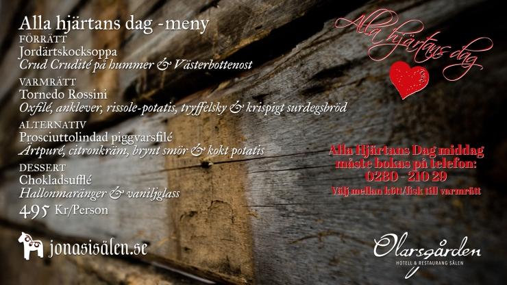 Olarsgården, alla hjärtans dag, Valentines Day, boka bord, Lindvallen, restaurang sälen, restaurang lindvallen, Olarsgården hotell och restaurang, White Guide, Jonas i Sälen