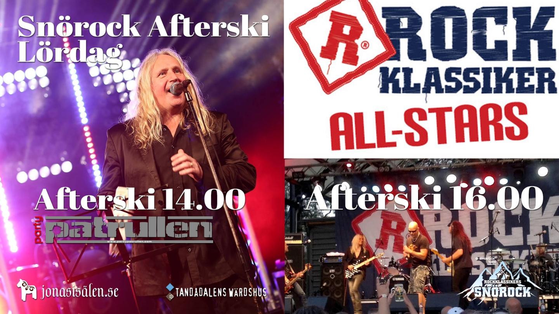 rockklassiker, rockklassiker snörock, snörock, radioplay, Tandådalens Wärdshus, Tandådalen, Allstars of rock, afterski, Sälen